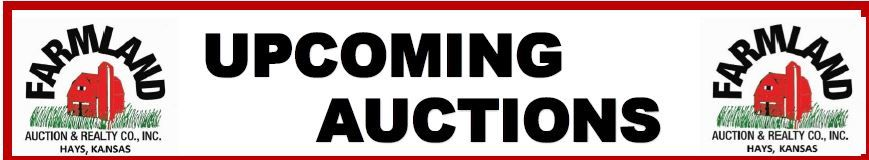 Auction flyer for Upcoming Auctions