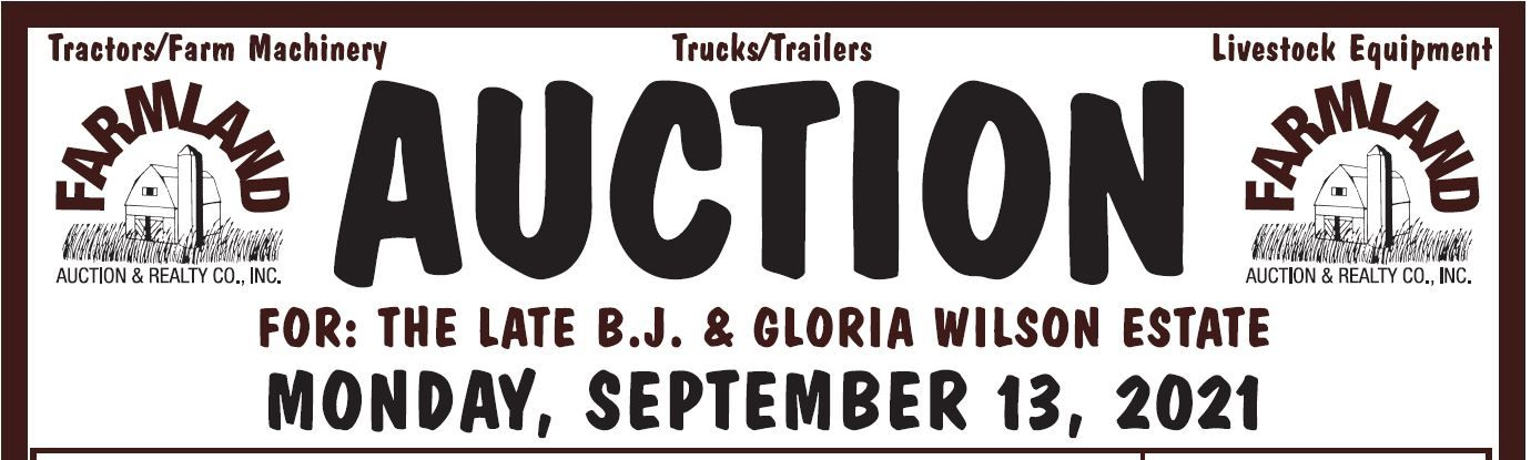 Auction flyer for FARM MACHINERY AUCTION