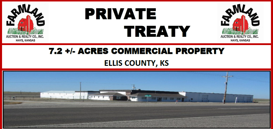 7.2 +/- Acres Commercial Property, Ellis Co., KS