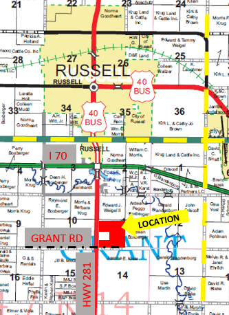 Item 1 in 150 +/- Acres Russell County, Kansas gallery