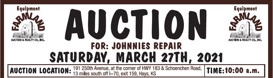 Auction flyer for AUCTION: Tools & Equipment