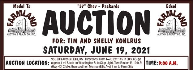 Auction flyer for Personal Property Auction